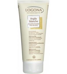 Argile blanche gel prêt à l'emploi Fleur de Lotus cheveux corps 200ml Logona