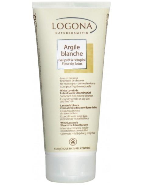 Argile blanche gel prêt à l'emploi cheveux corps 200ml Logona régulation de l'épiderme Herboristerie de paris