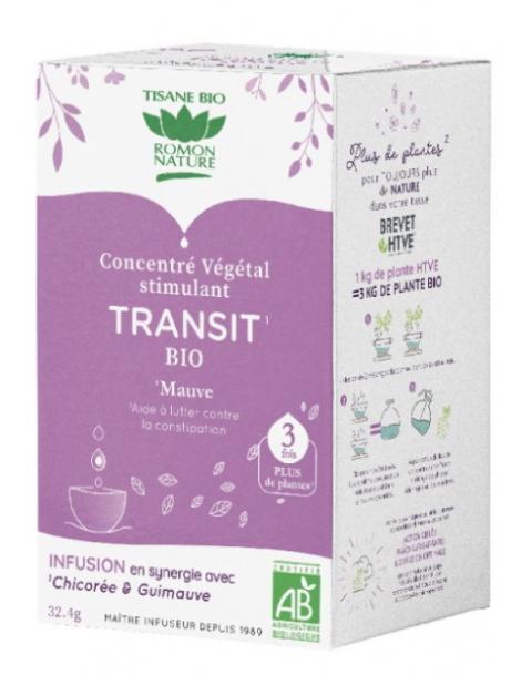 Tisane concentrée Mieux réguler le transit 18 sachets Romon Nature digestion Herboristerie de paris