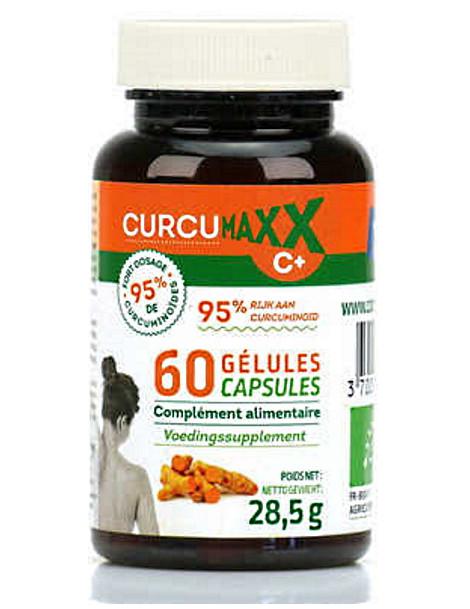 Curcumaxx C Plus 60 gélules Bio 95 pour cent Biocible curcumine pipérine articulations Herboristerie de paris