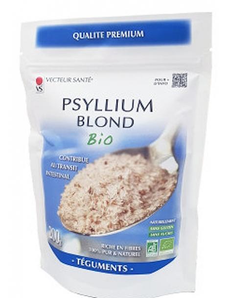 Ispaghul psyllium blond 200 gr Vecteur Santé effet fibres intestinal Herboristerie de paris