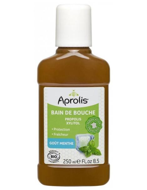 Bain de bouche Propolis et Xylitol goût Menthe 250 ml Aprolis santé bucco dentaire Herboristerie de paris