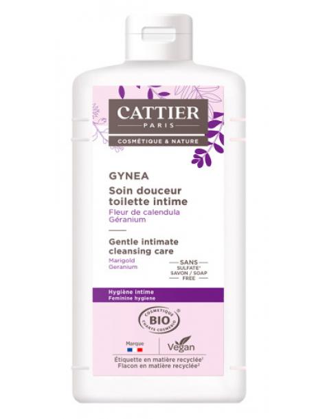 Soin douceur Gynéa Fleur de Calendula Géranium 200 ml Cattier toilette intime Herboristerie de paris