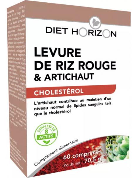 Levure de Riz Rouge coenzyme Q10 60 comprimés Diet Horizon Herboristerie de paris