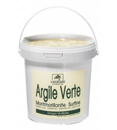 Argile verte Montmorillonite NATURADO pot 1kg Comptoir Provencal des Argiles