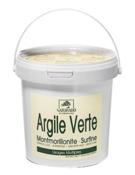Argile verte Montmorillonite NATURADO pot 1kg Comptoir Provencal des Argiles Herboristerie de Paris