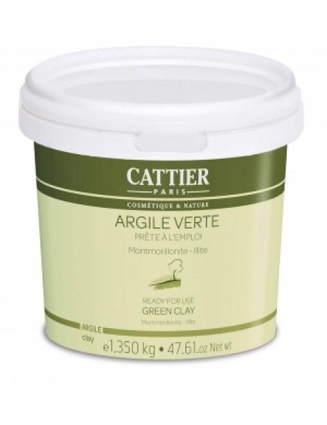 Argile verte Montmorillonite Prête à l'Emploi pot 1350mg Cattier Herboristerie de Paris