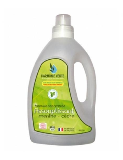 Assouplissant formule concentrée Menthe Cèdre 1,5 Litre Harmonie Verte Herboristerie de Paris
