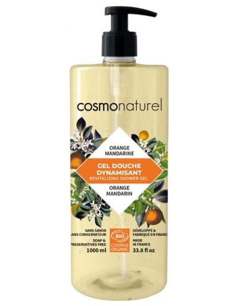 Bain douche Fruité Mandarine Orange  1L Cosmo Naturel Herboristerie de Paris