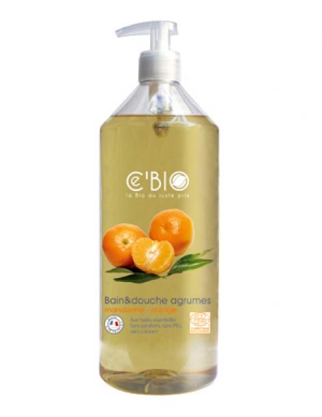 Bain et douche Agrumes Mandarine Orange  1L C'bio Herboristerie de Paris