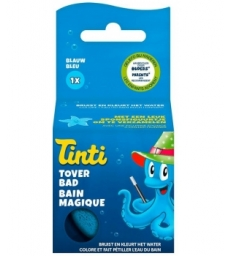 Balle Effervescente Bain Magique Bleue  55g Tinti