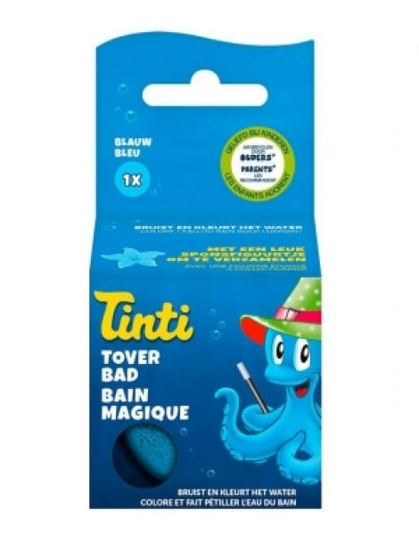 Balle Effervescente Bain Magique Bleue  55g Tinti Herboristerie de Paris