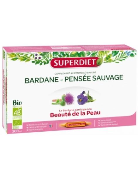Bardane Pensée Sauvage Bio 20 ampoules de 15ml Super Diet Herboristerie de Paris