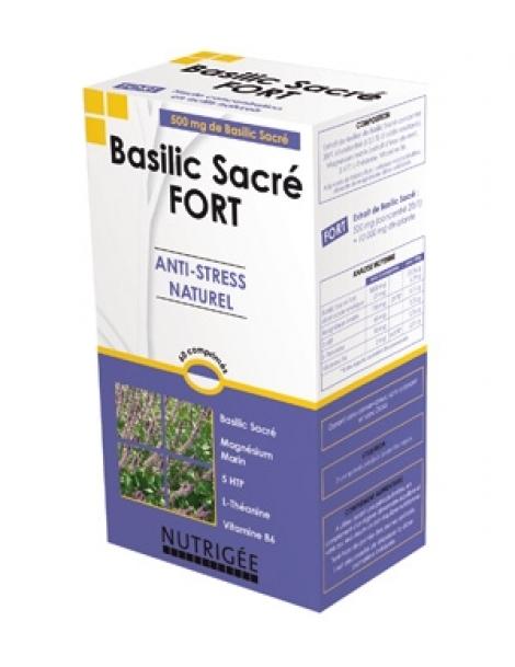 Basilic Sacré fort Anti stress naturel 30 comprimés Nutrigee Herboristerie de Paris
