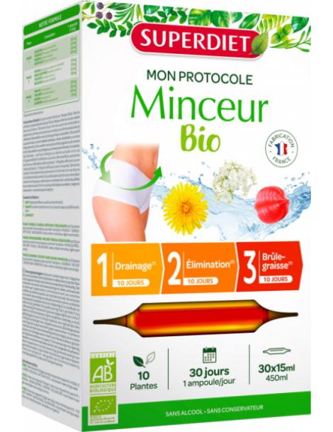 Protocole Minceur 30 ampoules de 15ml Super Diet