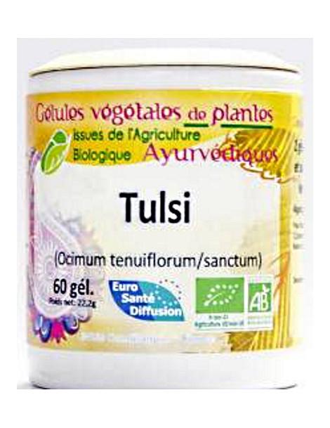Tulsi 60 gélules ocimum sanctum basilic sacré Phytofrance Herboristerie de paris