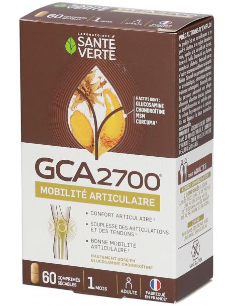 GCA 2700 Glucosamine Chondroitine 60 Comprimés Santé Verte arthrose articulaire Herboristerie de paris
