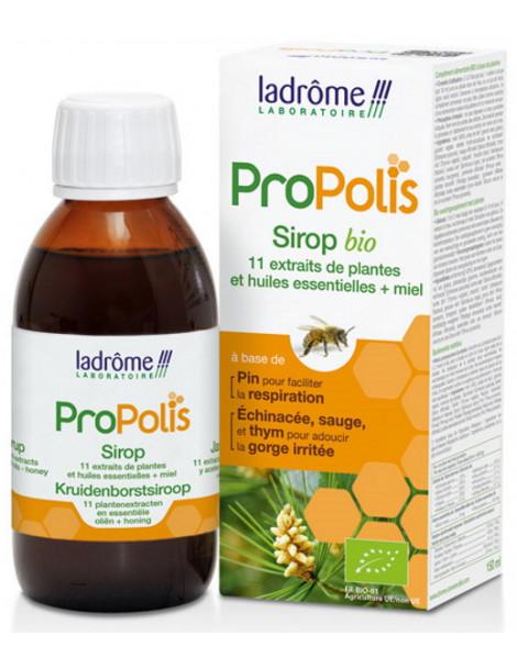 Sirop bio propolis échinacée thym 150 ml Ladrôme voies respiratoires Herboristerie de paris
