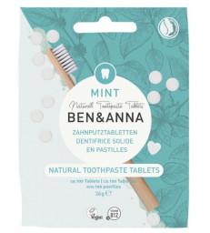 Dentifrice solide goût menthe 100 pastilles sans fluor 36 gr Ben et Anna