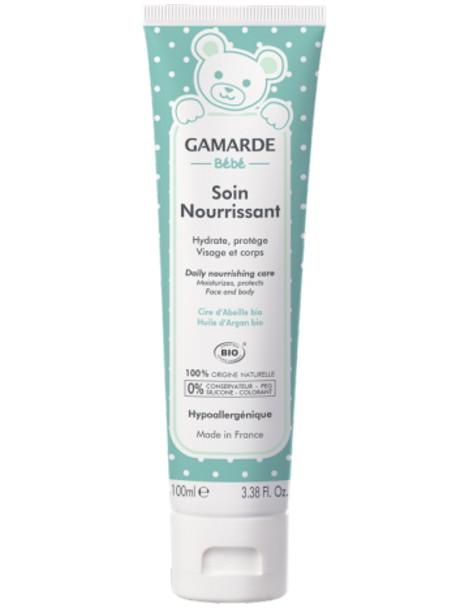Soin Nourrissant Visage et Corps bébé Tube 100 ml Gamarde hydrate soulage la peau de bébé Herboristerie de paris