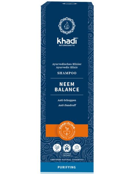 Shampooing ayurvédique Neem Balance 200ml Khadi cheveux ternes pellicules Herboristerie de paris