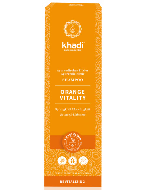 Shampooing ayurvédique Orange vitality 200ml Khadi