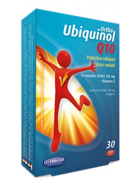 Ortho Ubiquinol Q10 30 capsules Orthonat Nutrition  coenzyme Q10 anti radicaux libres Herboristerie de paris