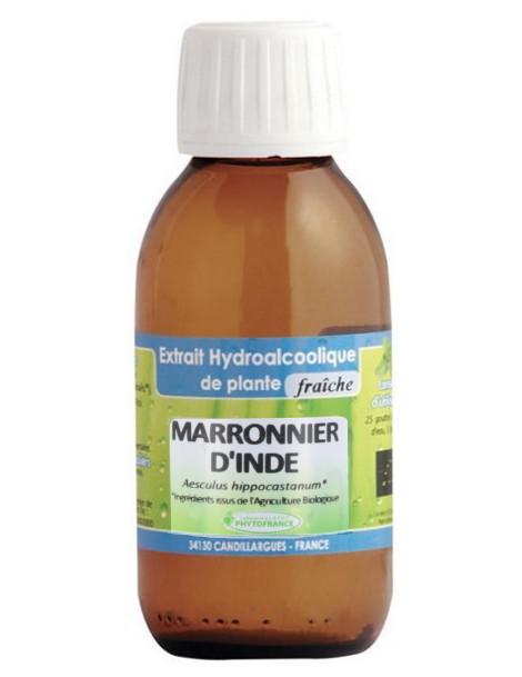 Extrait hydro alcoolique Marronnier d'inde 125ml Phytofrance aesculus hippocastanum Herboristerie de paris