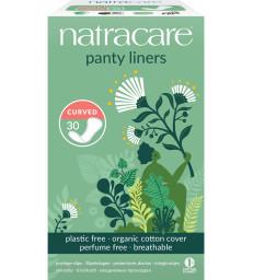 30 protèges slip naturels incurvés Natracare