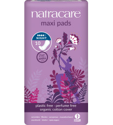 10 Serviettes de protection nuit Natracare
