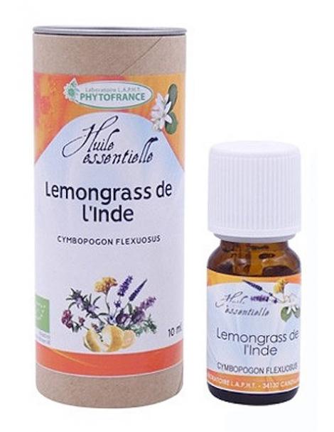 Huile essentielle Lemongrass de l'Inde 10ml Phytofrance