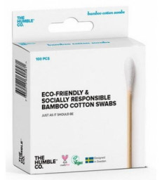 Cotons tiges naturels bambou Blanc Humble Brush