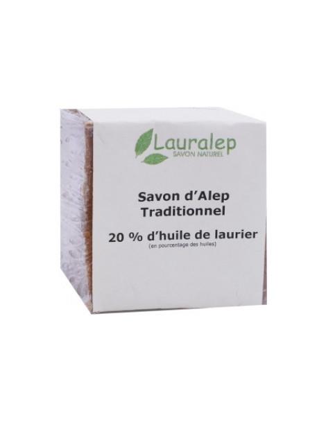 Savon d'Alep Traditionnel 20% 200g Lauralep