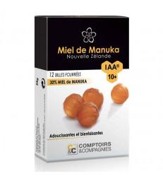12 Billes fourrées 30% miel de Manuka IAA10+ Comptoir et Compagnies