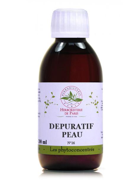 Phyto-concentré Dépuratif Peau 200 ml Herboristerie de Paris, pureté, peau, acné
