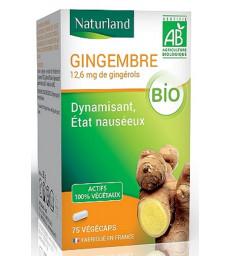Gingembre bio 75 gélules végécaps Naturland