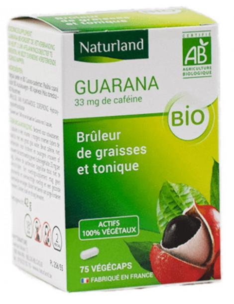 Guarana bio 75 gélules végécaps Naturland poudre et extrait bio Herboristerie de paris
