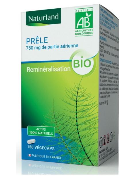 Prêle des champs Bio 150 Gélules Végécaps Naturland silice acide silicique Herboristerie de paris