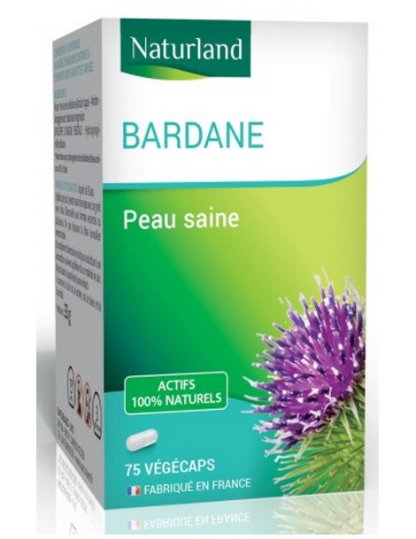 Bardane 75 gélules vegecaps Naturland pureté Herboristerie de paris