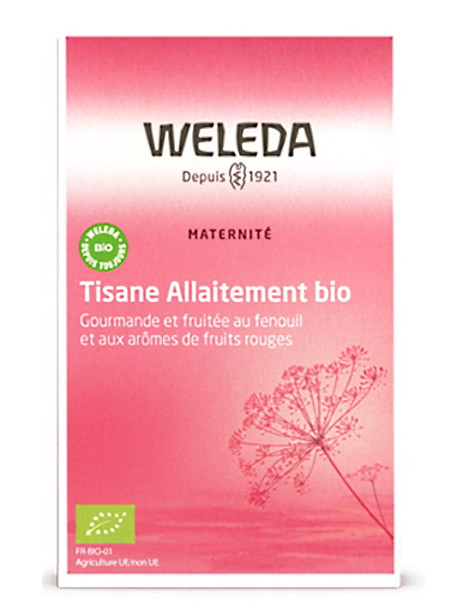 Tisane allaitement bio Fruits rouges 20 sachets Weleda fenouil carvi Herboristerie de paris