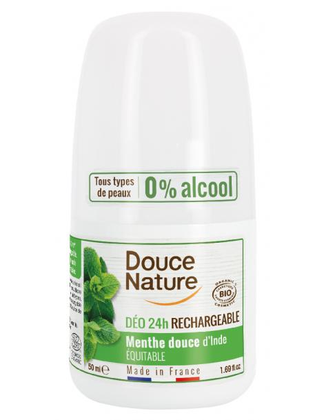 Déodorant à billes peaux normales Menthe 24H 50ml Douce Nature Herboristerie de paris