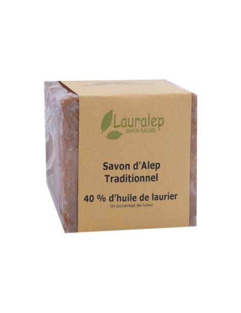Savon d'Alep Traditionnel 40% 200g Lauralep