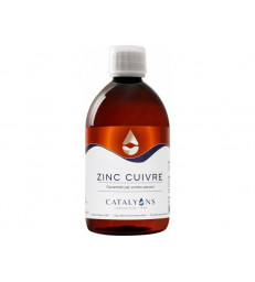 Zinc Cuivre ionisé 500 ml Catalyons
