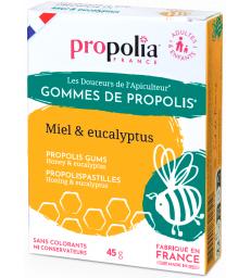 Gommes de Propolis Eucalyptus Sachet de 45g sous étui Propolia