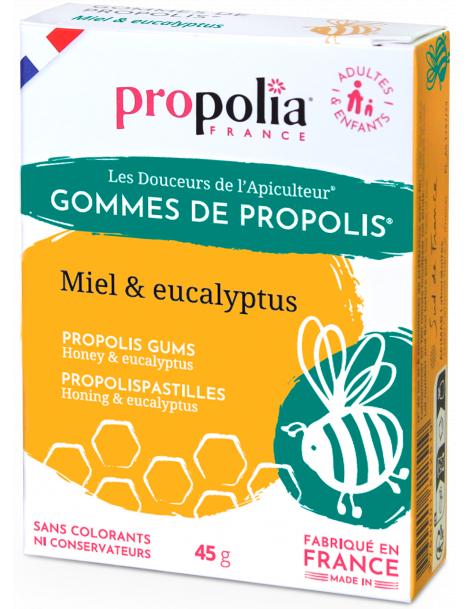 Gommes de Propolis Eucalyptus Sachet de 45g sous étui
