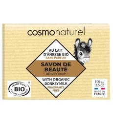 Savon au lait d'ânesse Karité sans parfum 100g Cosmo Naturel