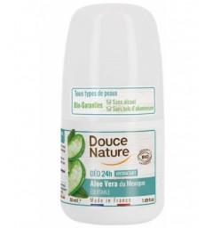 Déodorant à billes peaux sensibles à l'Aloé véra 50ml Douce Nature