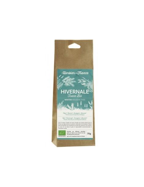 Tisane Hivernale thym romarin eucalyptus lavande en sachet kraft 35g Herbier De France