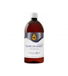 Oligo éléments CUIVRE OR ARGENT 1000 ml Catalyons