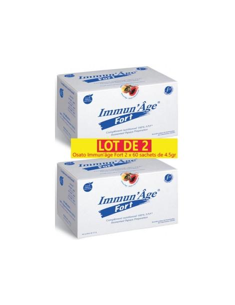 Lot de 2 Immun'âge Fort 2 x 60 sachets de 4.5gr Osato